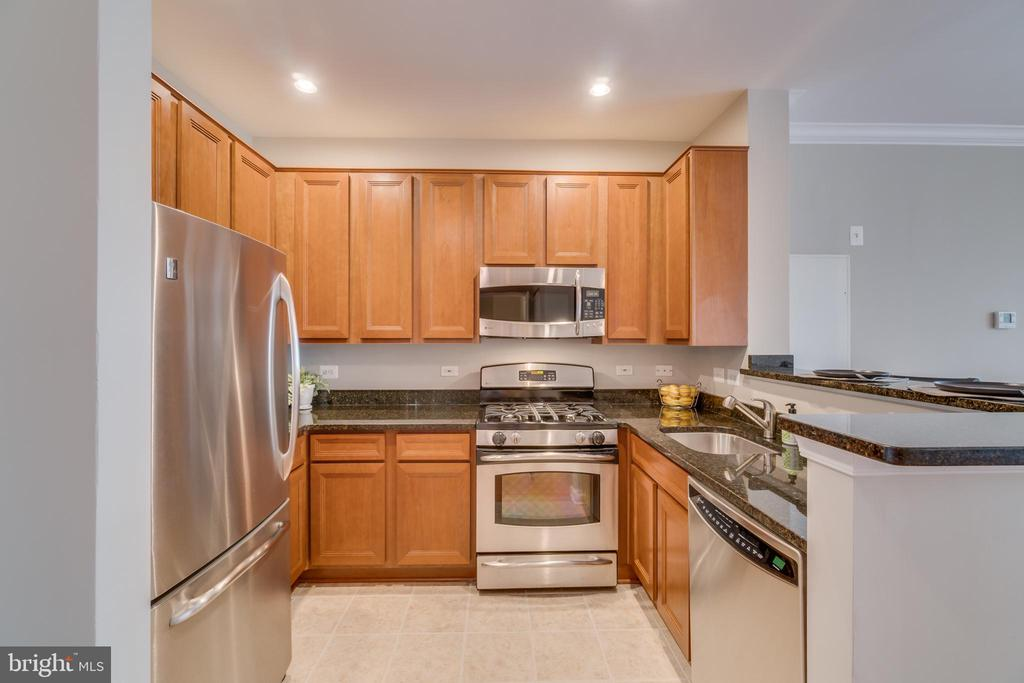 Lots of cabinets space, granite counters and SS - 12000 MARKET ST #254, RESTON