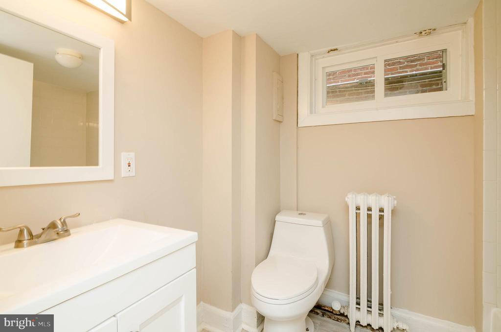 Lower Level Full Bathroom - 1307 LONGFELLOW ST NW, WASHINGTON