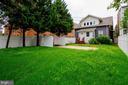 Back yard with parking pad - 1307 LONGFELLOW ST NW, WASHINGTON