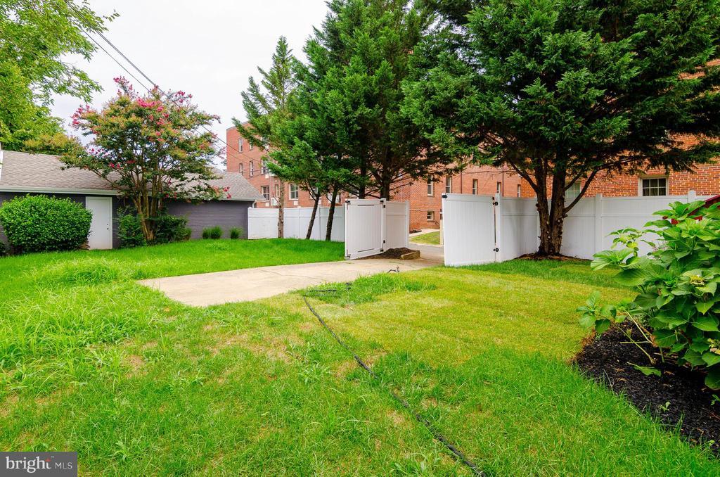 Back yard - 1307 LONGFELLOW ST NW, WASHINGTON
