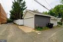 2 two car garages - 1307 LONGFELLOW ST NW, WASHINGTON
