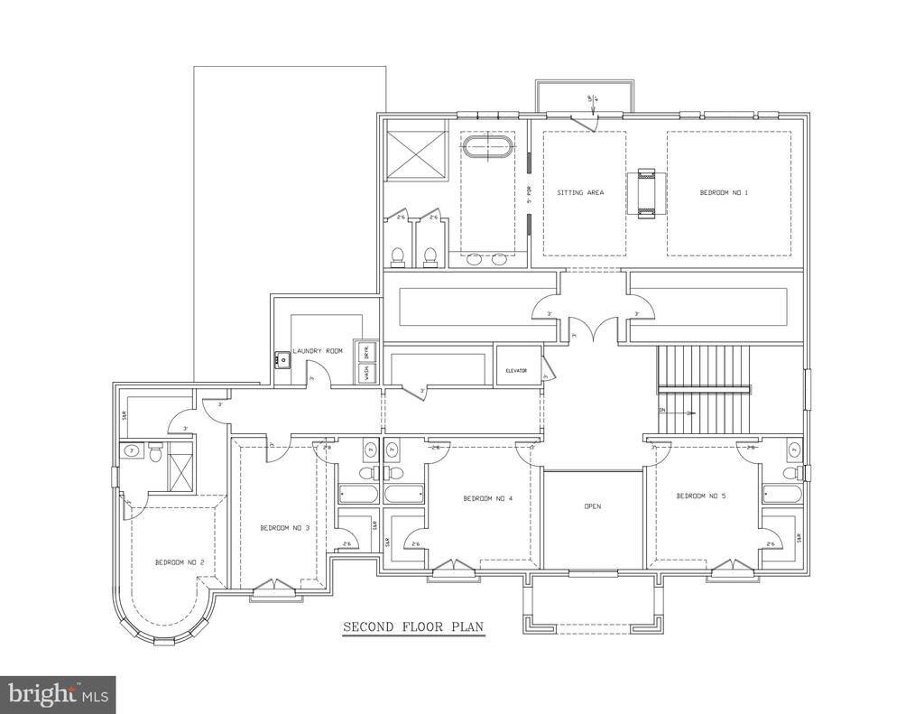 Upper Level Floor Plan - 1048 RECTOR LN, MCLEAN