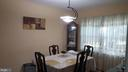 Separate Dining area with double window - 6216 STONEHAM RD, BETHESDA