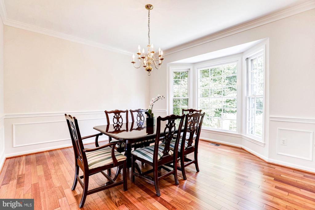 Dining Room with Bay Window - 8333 ARGENT CIR, FAIRFAX STATION