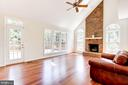 Family Room - Opens to Deck - 8333 ARGENT CIR, FAIRFAX STATION