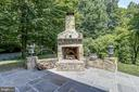 Stand-alone Stone Fireplace - 8333 ARGENT CIR, FAIRFAX STATION