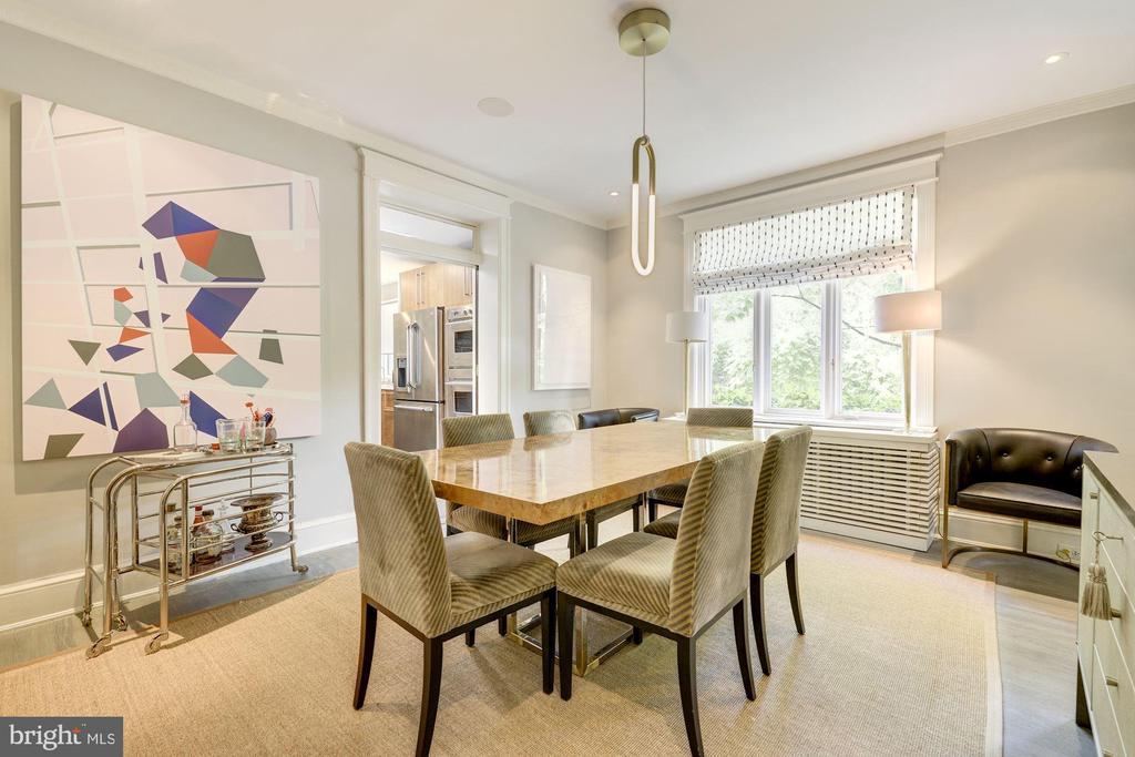 Dining room with wooded views - 3610 QUEBEC ST NW, WASHINGTON