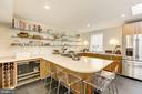Gourmet kitchen with extra drink refrigerator - 3610 QUEBEC ST NW, WASHINGTON