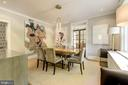Sophisticated dining room, pocket doors to kitchen - 3610 QUEBEC ST NW, WASHINGTON