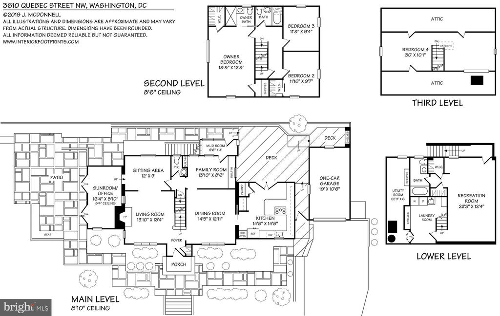 Floor plan for 3610 Quebec Street - 3610 QUEBEC ST NW, WASHINGTON