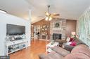 Open Living Room w/ Stone Wood Burning Fireplace - 11800 ASHWOOD CT, LOCUST GROVE
