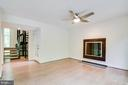 Sophisticated fireplace - 11222 GOLDFLOWER CT, FAIRFAX STATION