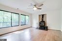 Wood-burning stove - 11222 GOLDFLOWER CT, FAIRFAX STATION