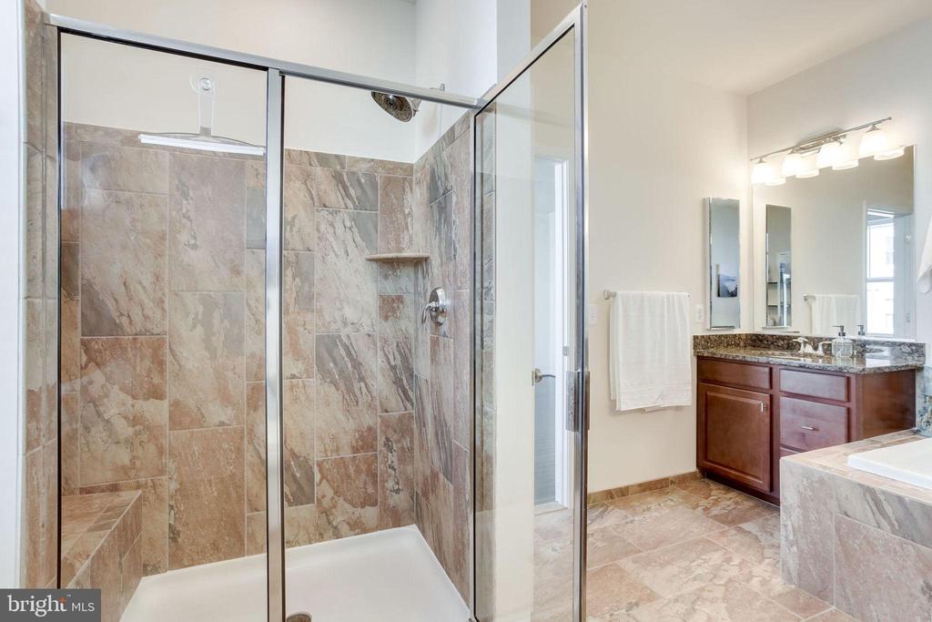 Walk-in shower with bench - 24556 ROSEBAY TER, ALDIE