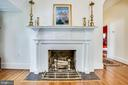 Decorative Fireplace in front foyer - 504 LEWIS ST, FREDERICKSBURG