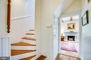 Back stairs!! - 504 LEWIS ST, FREDERICKSBURG