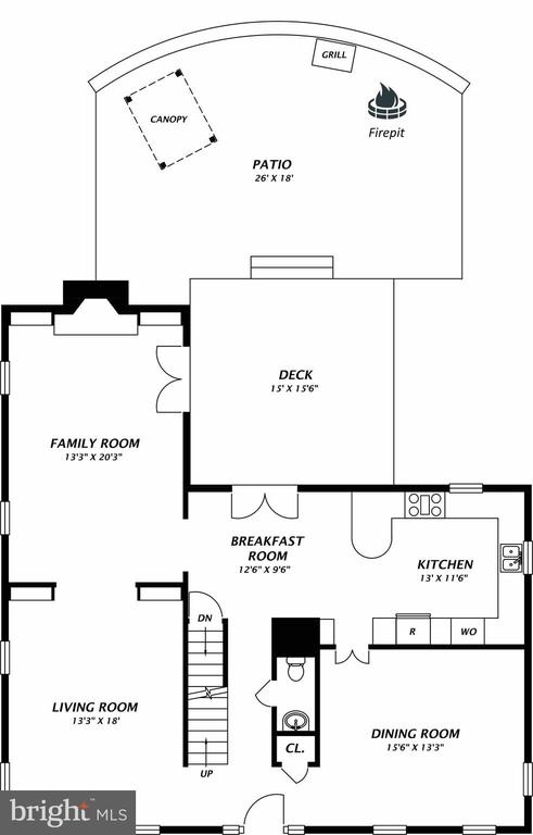 First Floor - 1904 BELLE HAVEN RD, ALEXANDRIA
