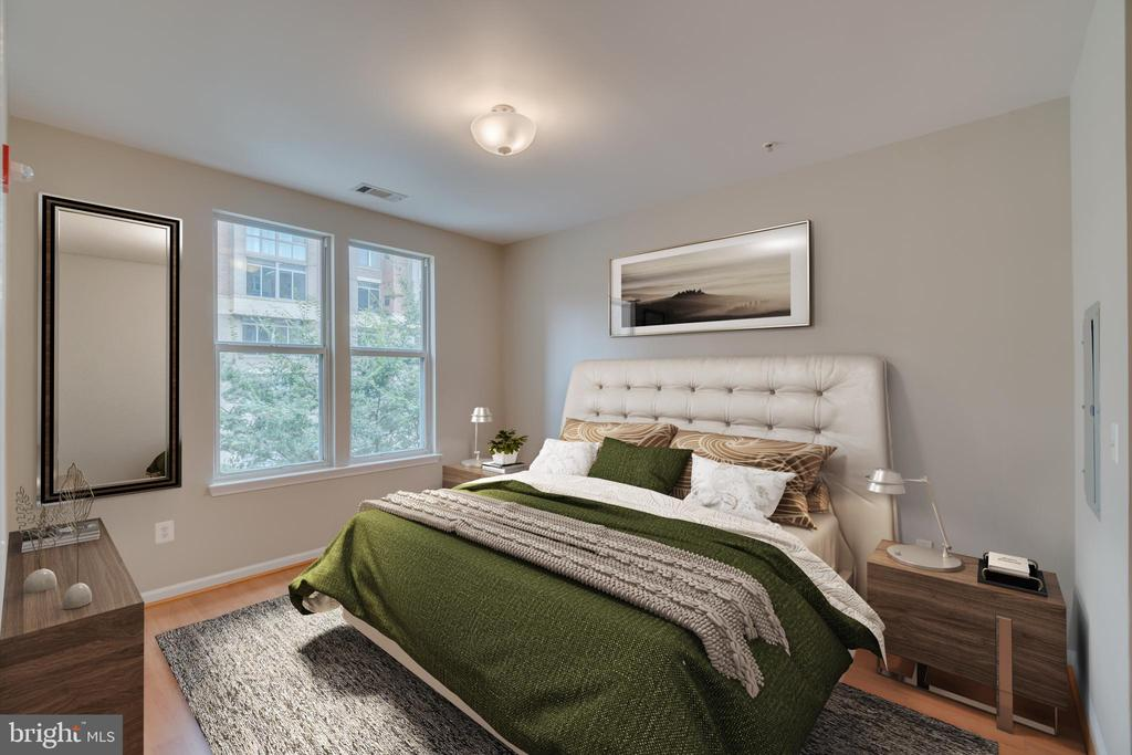 2nd Master bedroom Staged - 12000 MARKET ST #254, RESTON