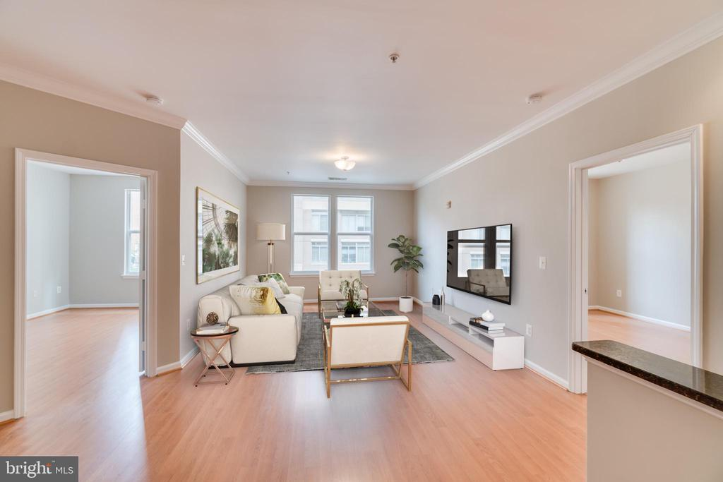 Staged Living Room - 12000 MARKET ST #254, RESTON