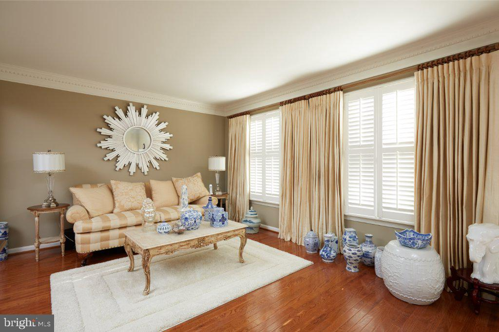 Living Room with plantation shutters - 2028 GALLOWS TREE CT, VIENNA