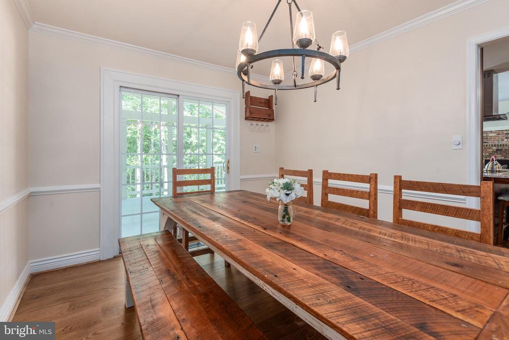 Over-sized dining room! - 5219 CALVERT CT, FREDERICKSBURG