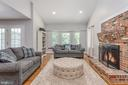 Extended family room with amazing fireplace! - 5219 CALVERT CT, FREDERICKSBURG
