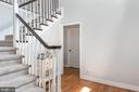 Large foyer with beautiful hardwood floors! - 5219 CALVERT CT, FREDERICKSBURG