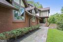 Private walkway to the grand front entrance - 7404 BRADLEY BLVD, BETHESDA