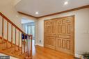 Open foyer with hardwoods throughout - 7404 BRADLEY BLVD, BETHESDA