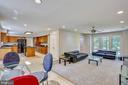 Open floor plan with windows, recessed lights - 7404 BRADLEY BLVD, BETHESDA