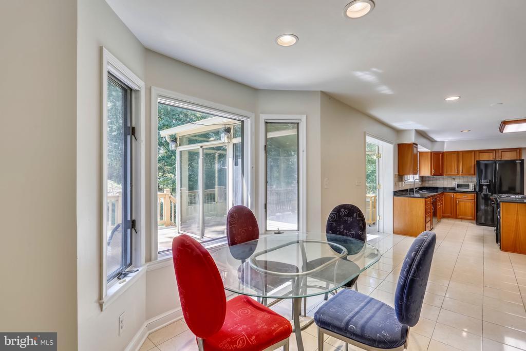 Breakfast area with casement windows - 7404 BRADLEY BLVD, BETHESDA