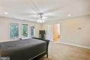 Spacious master bedroom suite - 7404 BRADLEY BLVD, BETHESDA