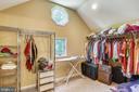 HUGE master bedroom closet - 7404 BRADLEY BLVD, BETHESDA