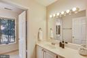 Hall full bathroom with separate vanity area - 7404 BRADLEY BLVD, BETHESDA