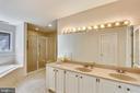 Master bathroom w/ separate tub/shower - 7404 BRADLEY BLVD, BETHESDA
