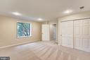 Bedroom #5 in basement - 7404 BRADLEY BLVD, BETHESDA