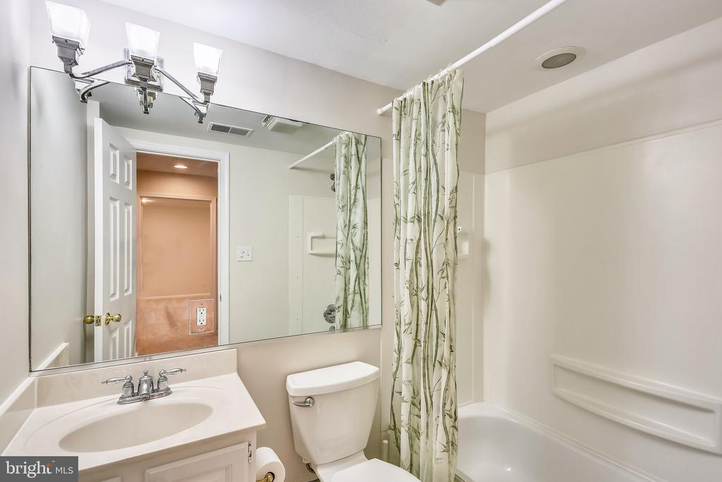 Basmeent full bathroom - 7404 BRADLEY BLVD, BETHESDA