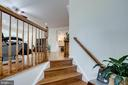 Foyer to open floor/ hand crafted HW floor - 4026 ROSEMEADE DR, FAIRFAX