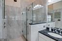 over thickness frame less glass shower - 4026 ROSEMEADE DR, FAIRFAX