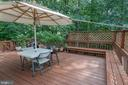 Well maintained weathered painted/enlarged deck - 4026 ROSEMEADE DR, FAIRFAX