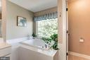 Master Bath - Soaking Tub w/ picturesque tree view - 42956 OHARA CT, ASHBURN
