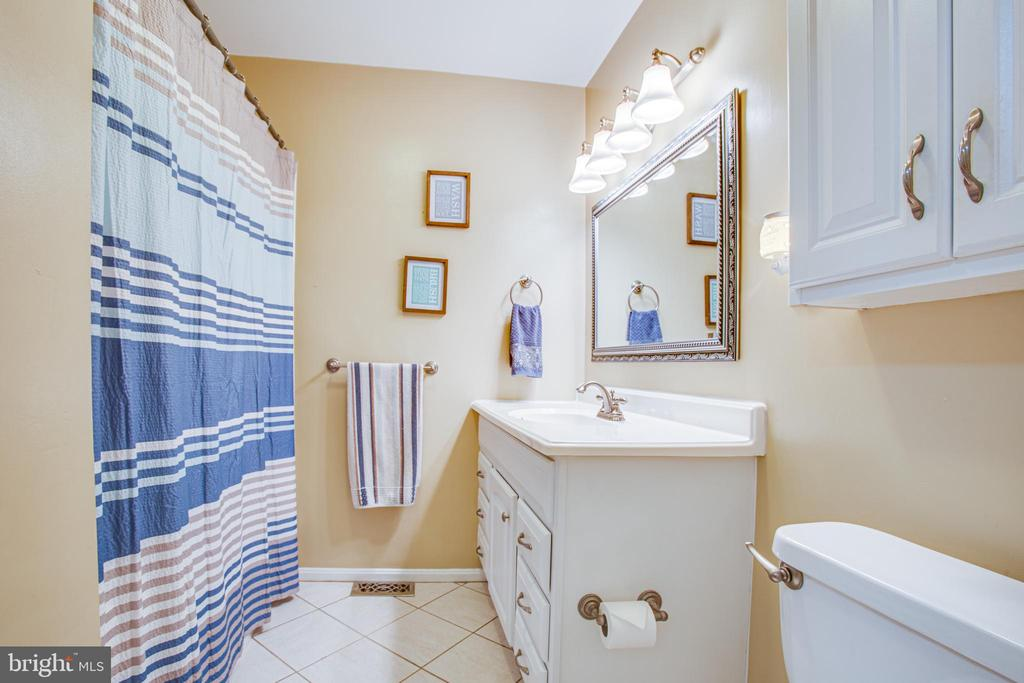 Hall bathroom with Jacuzzi tub - 1037 HARBOUR DR, STAFFORD