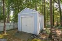 Shed to hold all your outside lawn equipment - 1037 HARBOUR DR, STAFFORD