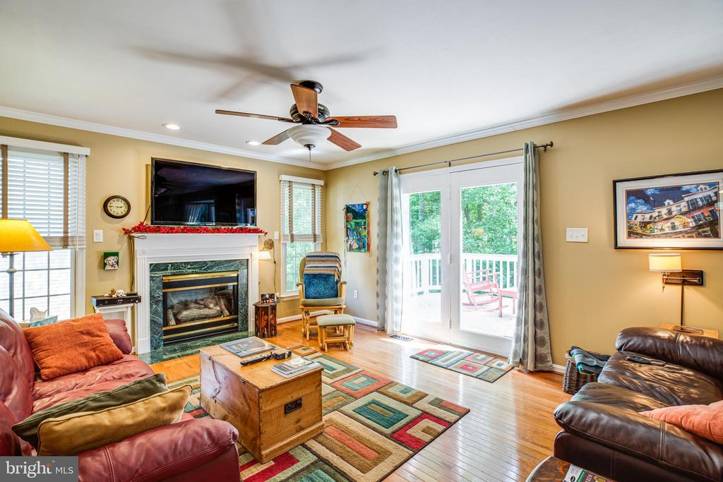 Family room with gas fireplace! - 11911 KINGSWOOD BLVD, FREDERICKSBURG