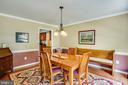 Formal dining room - 11911 KINGSWOOD BLVD, FREDERICKSBURG