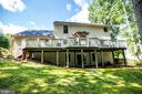 The deck is the full width of the house! - 11911 KINGSWOOD BLVD, FREDERICKSBURG