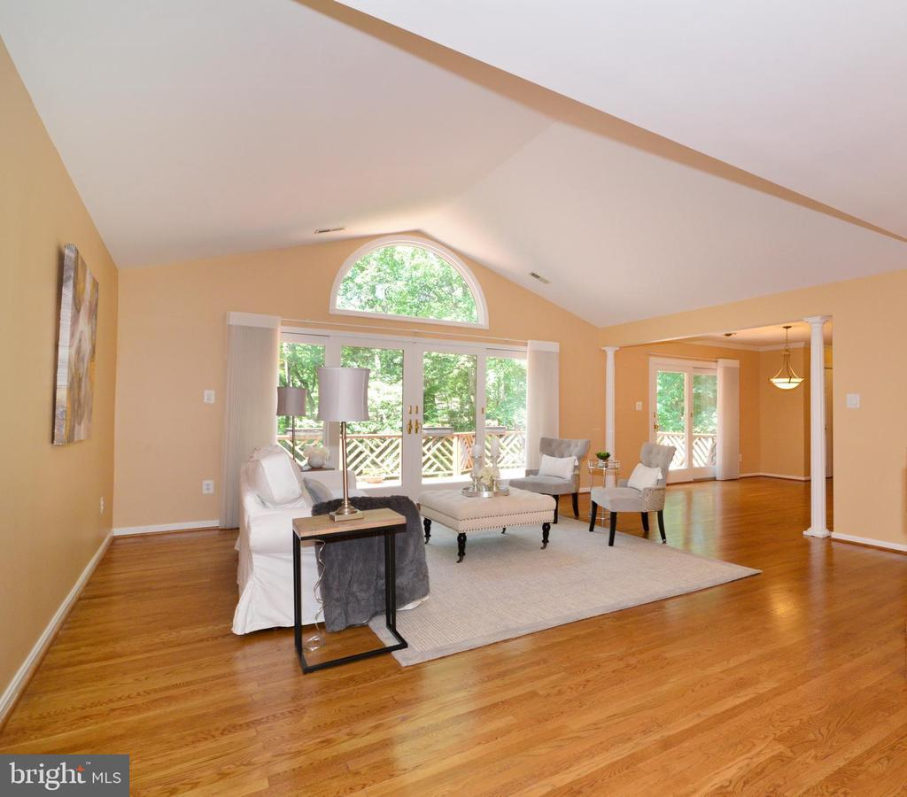 Living Room with high ceilings and natural light! - 1700 BESLEY RD, VIENNA