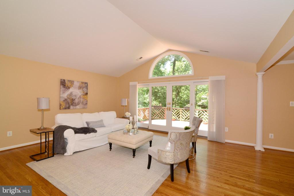 Living Room with beautiful wall of windows! - 1700 BESLEY RD, VIENNA