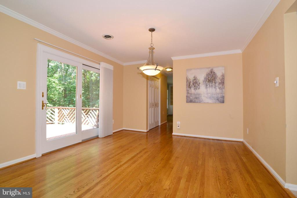 Dining Room w/ hardwoods and view - 1700 BESLEY RD, VIENNA