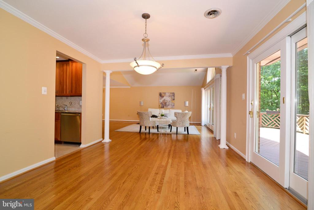 Dining Room opens to Living Room - 1700 BESLEY RD, VIENNA